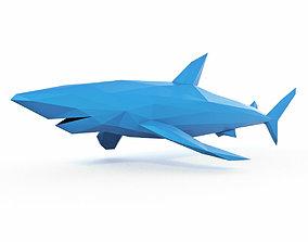 Shark 2 Low Poly 3D asset