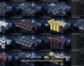 3D Spaceship Civilian Ship Collection II