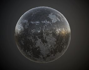 3D model Metal Rusted Decay Seamless PBR Texture