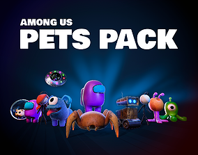 3D asset Among Us Pets Pack