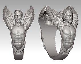 Angel Ring jewelry 3D printable model