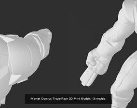 Marvel Comics Triple Pack 3D Print Models