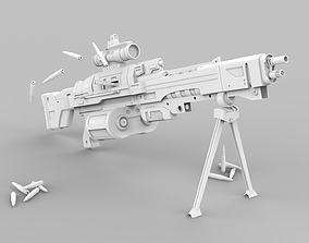 3D Heavy Machine Gun From Destiny