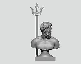 Poseidon Neptune bust 3D