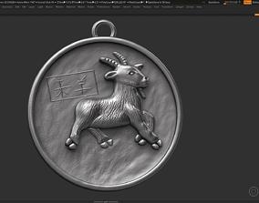 Goat zodiac sign symbol 3d print model