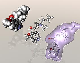 Quinine molecule 3D