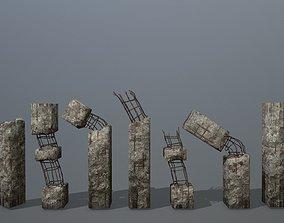 old concrete pole 3D model