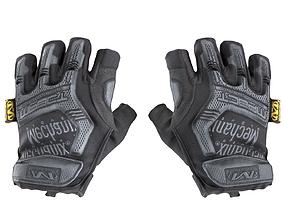 3D asset Military gloves half-finger of color black 17