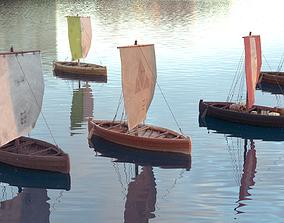 Knarr - Medieval Sailboat 3D asset