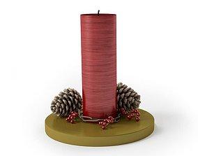 3D model Elegant Christmas Candlestick