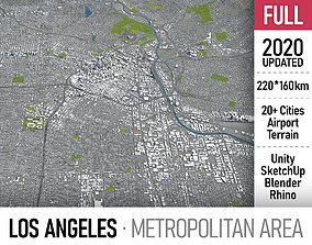 3D Los Angeles metropolitan area