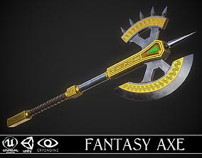 Fantasy Axe 04C 3D asset