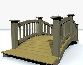 arch wooden bridge 3D asset VR / AR ready