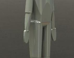 3D printable model wood man