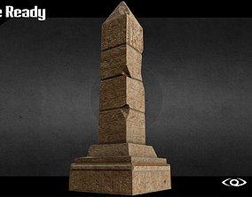 3D asset Egyptian Obelisk