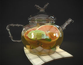 Teapot 3D model kitchen
