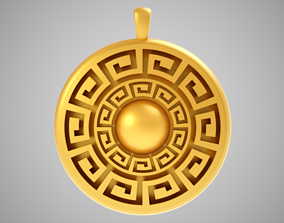 Meander Necklace 3D print model