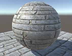 3D model limestone brick wall texture