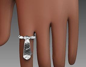 3D printable model Necktie Ring