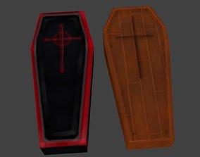 3D model textured coffin