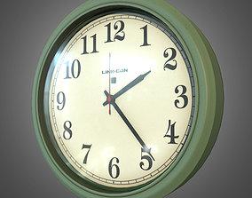 3D model Plastic Indoor Wall Clock - PBR Game