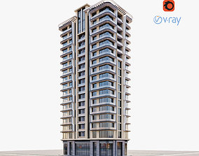 Modern residential building 1 3D model