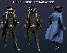 3D asset Dark Cowboy