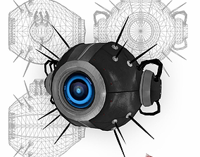 Drone Sci-fi low poly 3D asset