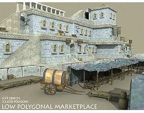 Medieval Marketplace 3D asset