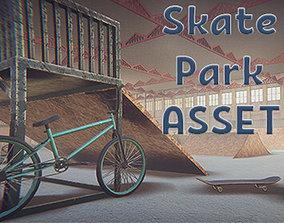 bicycle 3D asset Skate Park