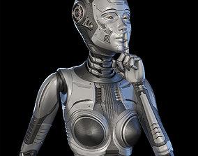 FUTURISTIC ROBOT WOMAN - Advanced Edition - 3D model