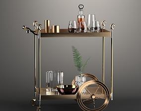 Vintage Bar Trolley 3D