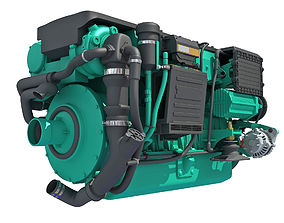 Motorboat Engine 3D