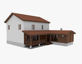 Woodframe House 3D