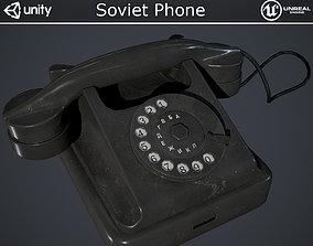 3D asset Soviet Phone