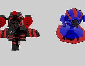 3D model Scifi Turret projectiles
