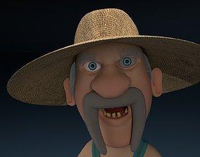 Cartoon Redneck Rigged 3D asset