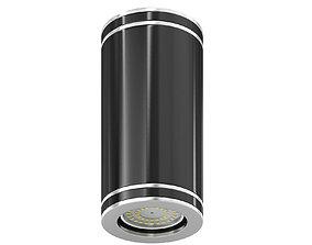 lamp Black Cylindrical Light 3D Model