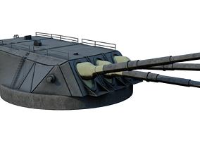 3D model Type 94 naval gun