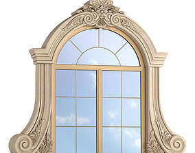 3D model Classic window frame for decorating the facade