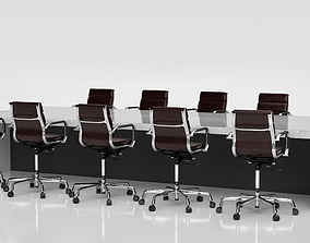 Conference Meeting Room Furniture 05 3D model