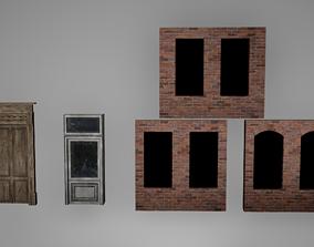 Door - Window Set Low Poly Game Ready 3D asset