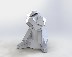 Model Polygon Piggy bank Sheet metal 3D model