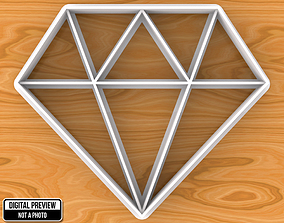 Diamond Cookie Cutter kitchen-dining 3D print model