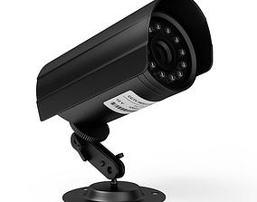 lens 3D model cctv camera