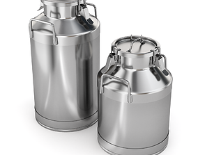 3D model Big Milk Cans with Latch