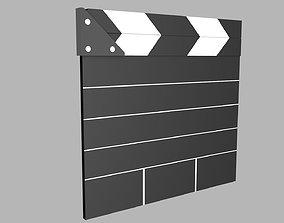 Clapper Board 3D asset