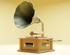 vintage gramophone musical 3D model