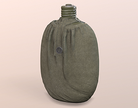 Army flask 3D model