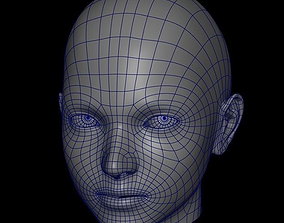 Female Head Base Mesh 3D asset